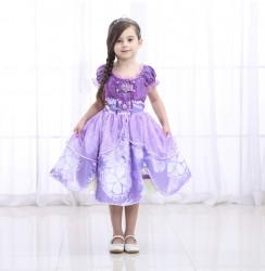 Váy công chúa Sofia loại ngắn cho bé 11-15kg