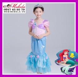 Váy công chúa Ariel nàng tiên cá cho bé 17-35kg