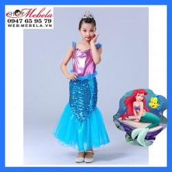 Váy nàng tiên cá Ariel cho bé 17-35kg