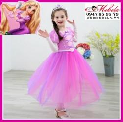 Váy công chúa tóc mây Rapunzel cho bé