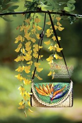 Túi cói vẽ tay hoa thiên điểu