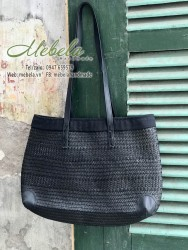 Túi cói đen cỡ đại