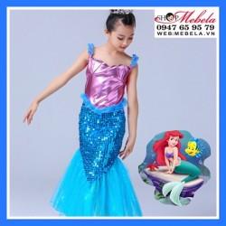Váy nàng tiên cá Ariel cho bé 16-37kg