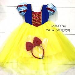 Đầm công chúa Bạch Tuyết kim sa đỏ ( loại chất hơi nóng)