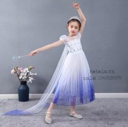 Váy công chúa Elsa Frozen 2 cho bé 17-29kg