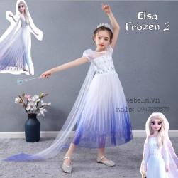 Váy công chúa Elsa Frozen 2 cho bé 16-29kg