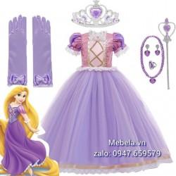🎀 Váy công chúa Tóc mây Rapunzel cho bé 13-26kg