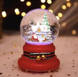 Quà lưu niệm quả cầu tuyết ông già Noel có tuyết fun tự động