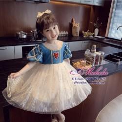 Váy công chúa Bạch Tuyết tim đỏ cho bé