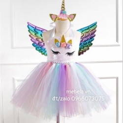 Váy ngựa Pony Unicorn kèm sừng và cánh
