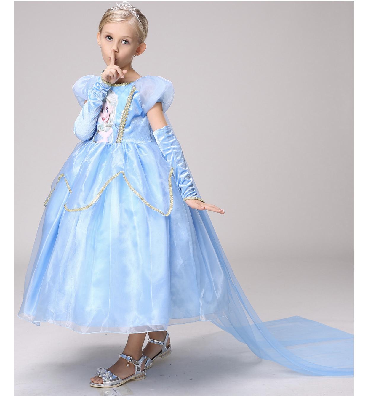 Váy công chúa Elsa 30-35kg cao 140cm trở xuống