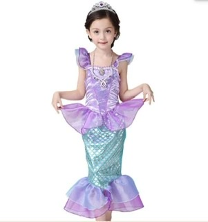 Váy nàng tiên cá Ariel cho bé 15-21kg