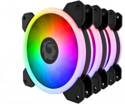 COMBO 3 FAN TẢN NHIỆT RGB FORGAME CAT EYE (KÈM ĐIỀU KHIỂN)