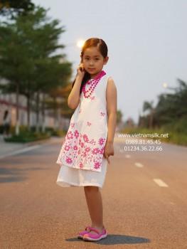 Áo dài cách tân bé gái Mùa Hạ 02