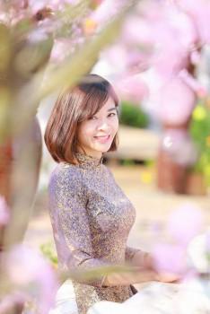 Áo dài gấm Thái Tuấn cho mẹ (AM.161)