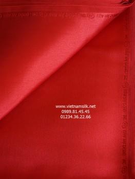 Lụa satin trơn Vạn Phúc màu đỏ (VL.130)