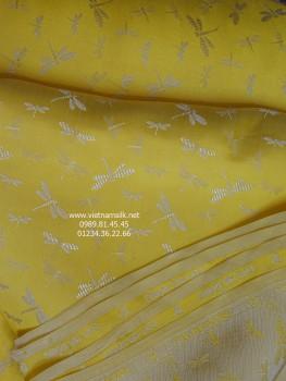 Lụa Hà Đông 80% silk. Họa tiết chuồn chuồn. VL138