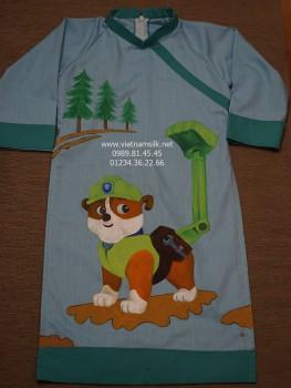 Áo dài vẽ bé trai họa tiết chú chó cứu hộ VNS.209