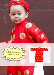 Áo dài trẻ em cho bé trai gấm Thái Tuấn ĐT