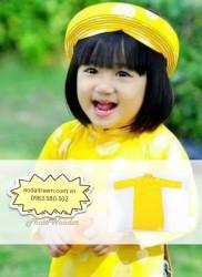 Áo dài trẻ em cho bé gái Gấm Thái Tuấn VX