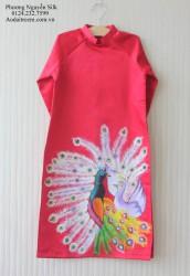 Áo dài vẽ tay thủ công cho bé gái VTG06