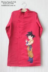 Áo dài vẽ cho bé trai hình Son Goku2