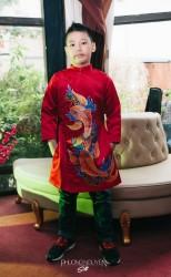 Áo dài trẻ em mẫu cách tân cho bé trai BT1710.
