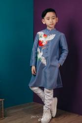 Áo dài trẻ em mẫu cách tân cho bé trai BT1703