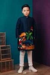 Áo dài trẻ em mẫu cách tân cho bé trai BT1705