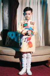 Áo dài trẻ em mẫu cách tân cho bé trai BT1709