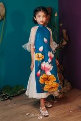 Áo dài trẻ em mẫu cách tân cho bé gái BGTV1701