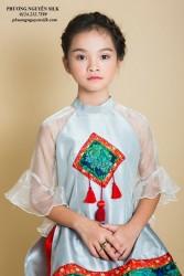 Áo dài trẻ em mẫu cách tân cho bé gái BGTV1707