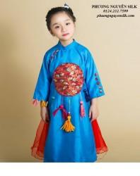 Áo dài trẻ em mẫu cách tân cho bé gái BG1715