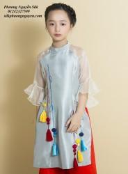 Áo dài trẻ em mẫu cách tân cho bé gái BGTV1708