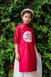 Áo dài trẻ em mẫu cách tân cho bé gái BG1708