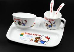 Bộ khay, bát, cốc thìa ăn dặm Hello Kitty