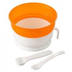 Bộ bát cốc nấu cháo chống trào (kèm 2 thìa)