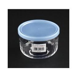 Hộp thủy tinh kim cương có nắp đậy màu xanh 420ml