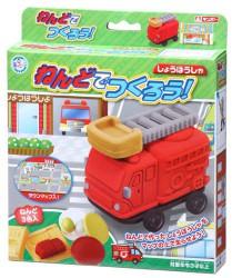 Bộ đồ chơi đất nặn bằng bột gạo mẫu Mô hình xe cứu hỏa GINCHO