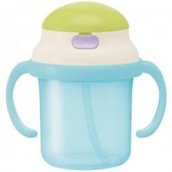 Bình nước vòi hút silicon có tay cầm cho bé màu xanh