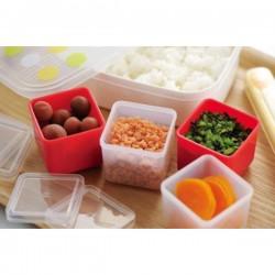 Set 4 hộp trữ đồ ăn dặm cao cấp