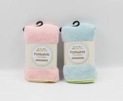 Khăn tắm Microfilber màu xanh, hồng