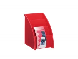 Hộp 3 ngăn đựng bút, điều khiển (màu đỏ)