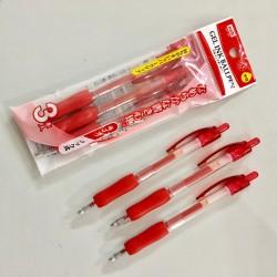 Set 3 bút bi màu đỏ