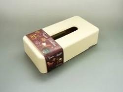 Hộp đựng giấy ăn hình chữ nhật (màu be)