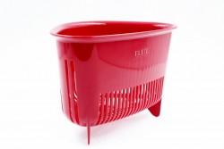 Rổ nhựa hình tam giác có chân (màu đỏ)
