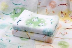 Khăn tắm Nhật Nissen mẫu thỏ (xanh, vàng)