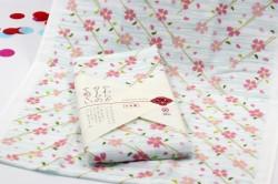 Khăn tắm Nhật Nissen mẫu hoa anh đào nhỏ