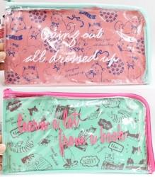 Túi đựng mỹ phẩm, đồ trang điểm màu xanh, hồng (mẫu 1)