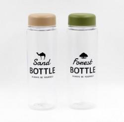Bình uống nước có nắp đậy 500ml (nắp xanh, nâu)